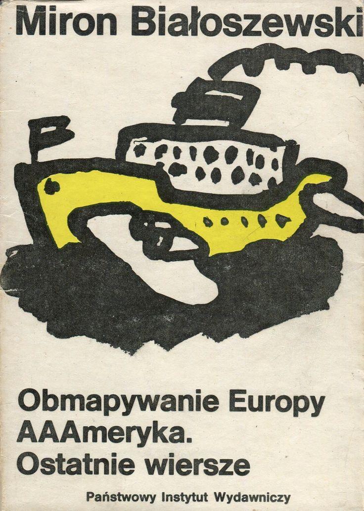 OBMAPYWANIE EUROPY, Warszawa 1988, book cover by Jan Bokiewicz
