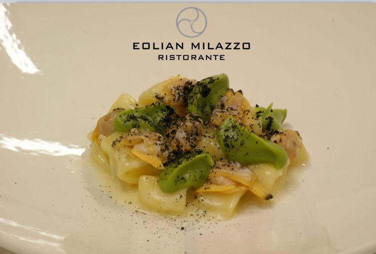 Patate Vongole & Broccoli Gnocco di patate fatto in casa, crema di broccolo verde di Sicilia e vongole veraci.