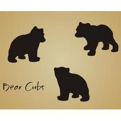 Stencil Bear Cub Shape...