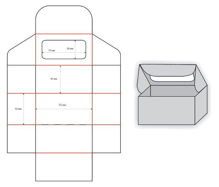 Бумажные коробки. Примеры штампов.