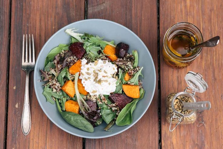 Quinoa and Roasted Vegetable Salad Recipe • theVintageMixer.com