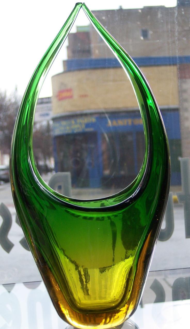 483 best coloured glass vases images on pinterest colored mid century murano glass basket 85 chicago httpfurnishly reviewsmspy