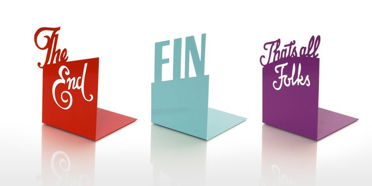 Typographic Bookends