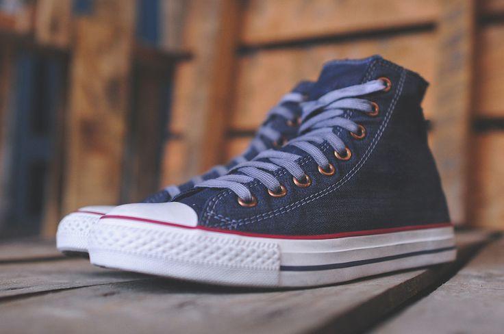 Converse Chuck Taylor Hi Blue (Distressed Wash)
