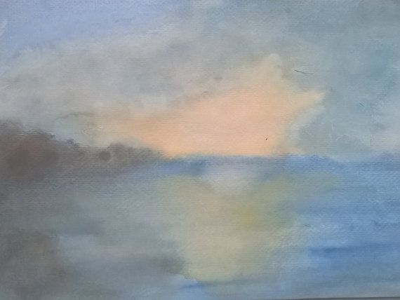Landscape Watercolour Art Painting by Sylchra, available on her Etsyshop ArtPaintingsAndDecor