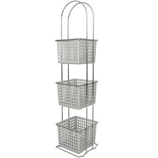Buy ColourMatch Chrome 3 Drawer Caddy - Dove Grey at Argos.co.uk - Your Online Shop for Bathroom shelves and units, Bathroom shelves and storage units. 12.99