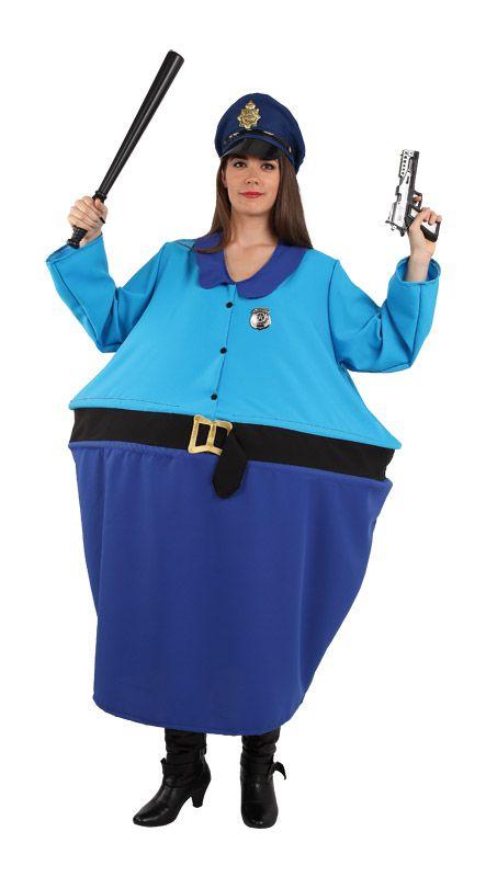 Disfraz de policia gordita para divertidas fiestas de disfraces