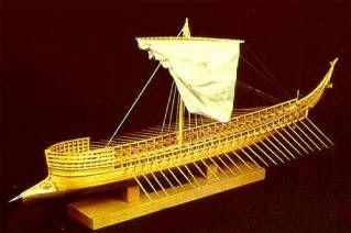 Model of a Mycenaean ship