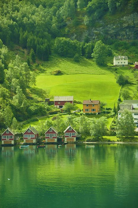 Small town north of Bergen, Norway; photo by Beverly Hanson