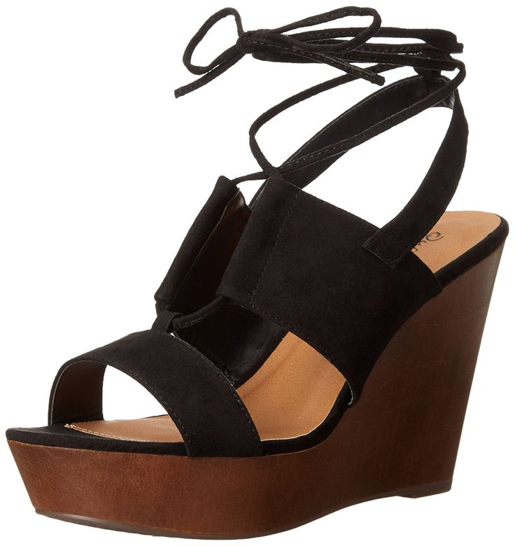 Qupid Women's Gimmick-31AX Wedge Sandal >>> Awesome ...