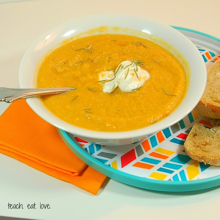 Pumpkin, Red Lentil, and Apricot Soup (or baby/toddler puree)
