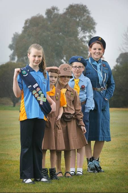 #Girlguiding Australia ~~~ The modern uniforms of #Girl_Guides and #Brownies are a stark contrast to those of yesteryear...