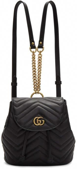 8c351648c560 Gucci Black Mini GG Marmont 2.0 Backpack #Guccihandbags   Gucci ...