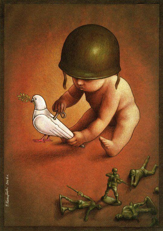 *Hablar a nuestros hijos de paz sin hacerles entender qué es lo que realmente significa.