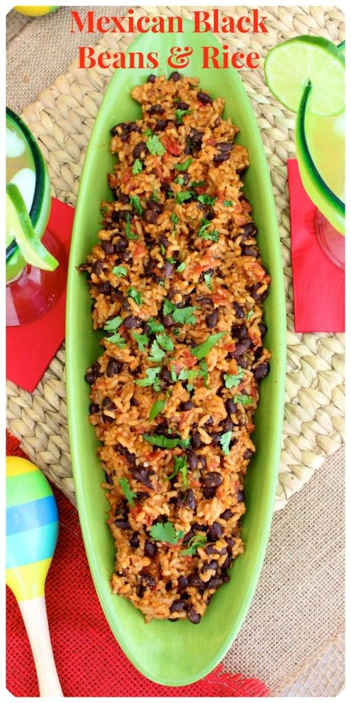 Mexican Black Beans & Rice | The BakerMama | Pinterest