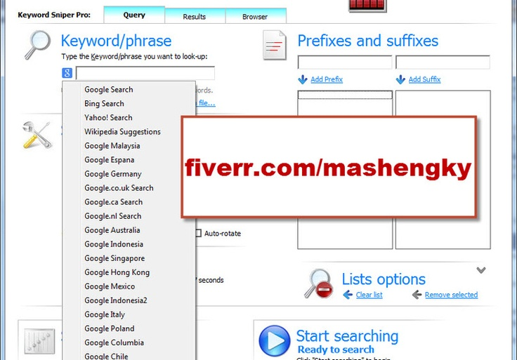 mashengky: use Keywords Sniper Pro to do Long Tail Key Words Research and provide high traffic low competition kw and Onpage SEO for you for $5, on fiverr.com