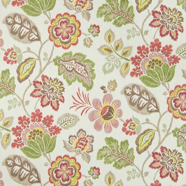 Warwick Fabrics : LUMLEY, Colour CORAL
