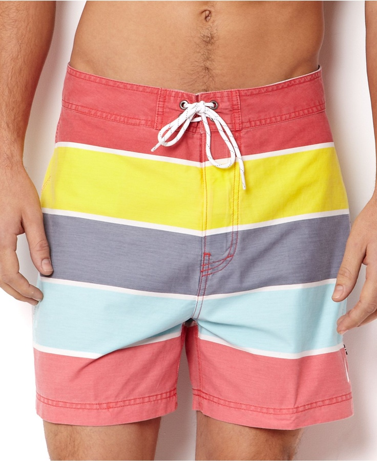 Nautica Swimwear, Stripe Drawstring Swim Trunk - Mens Swim - Macys