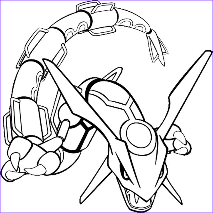 Pokemon Coloring Pages for kids Pokemon rayquaza in 2020