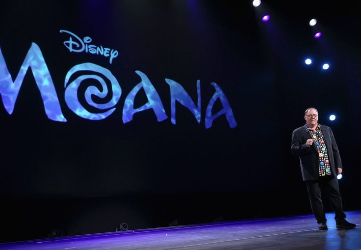 "Dwayne Johnson from Disney's upcoming movie ""Moana"" surprised guests at the animation panel at the 2015 D23 Expo. Description from thehappiestblogonearth.net. I searched for this on bing.com/images"
