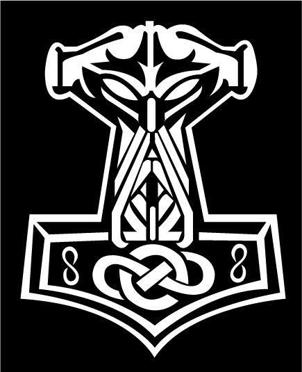 Thor Hammer Tattoo Designs | Thor's Hammer illustration in Ads, Logos, Album art, Tattoo designs by ...
