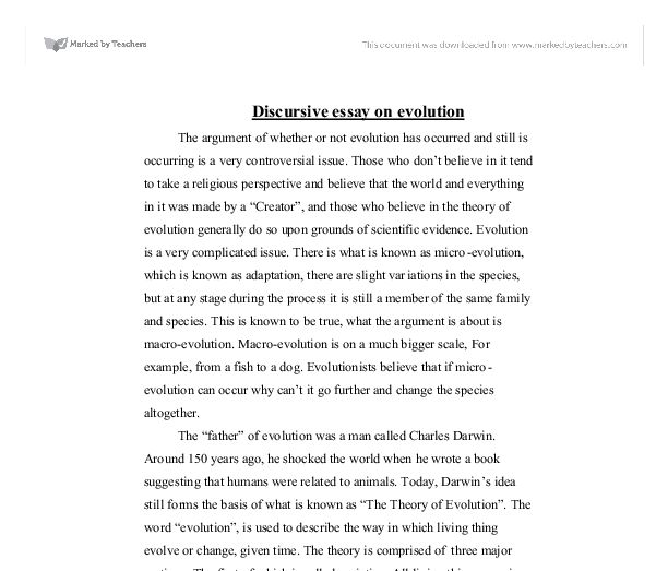 Darwins Theory Of Evolution Essay - The best expert's estimate
