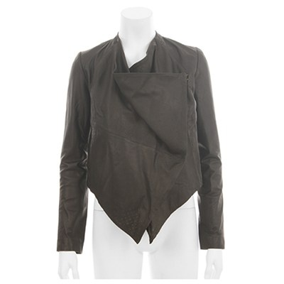 Black leather jacket. Just got this and love it already. Works with everything. Bought February '13