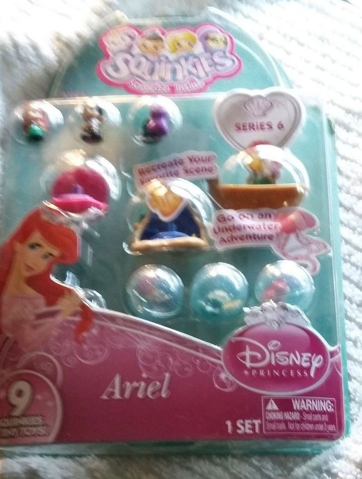 Squinkies Princess Bubble Pack - Ariel 2 With Tiny Toys #Disney