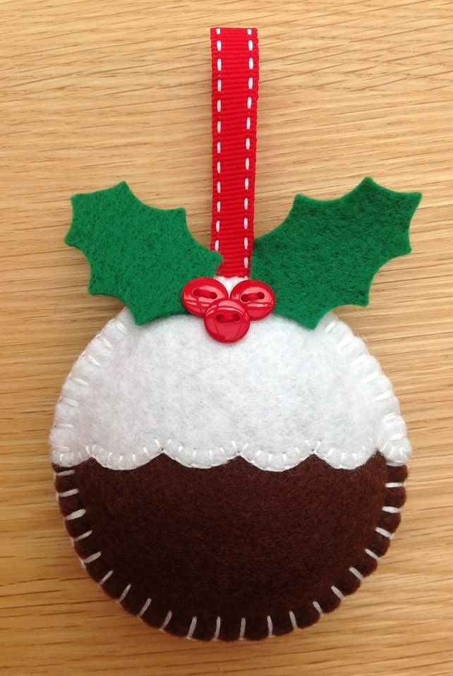 Christmas Pudding Decoration - Made To Order £2.75