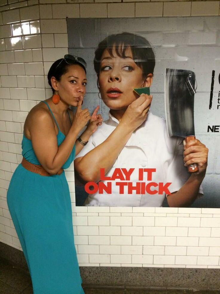 Selenis Leyva aka Gloria (She lives in my neighborhood; I see her a lot at the post office - looking very chill.)