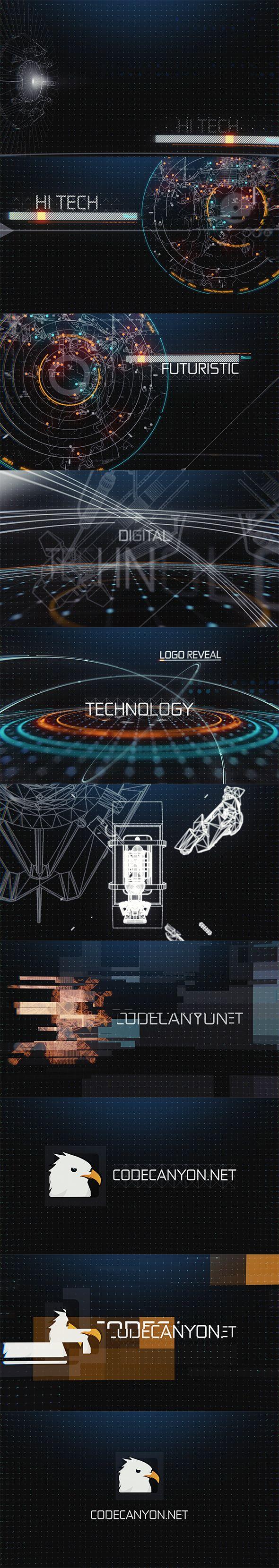 Hi-Tech HUD Logo Reveal on Behance