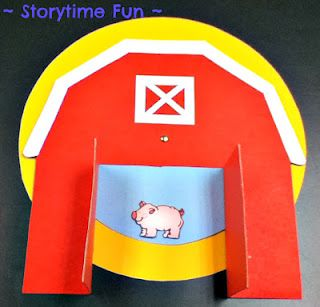 """Spinning wheel song prop for """"Old McDonald Had a Farm"""" from Storytime ABC's"""