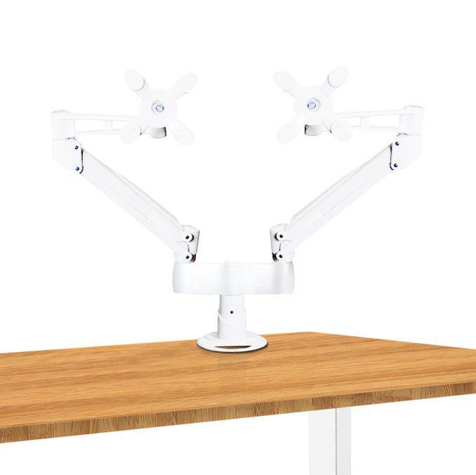 Dual Height Adjustable Monitor Arm Desk Mount