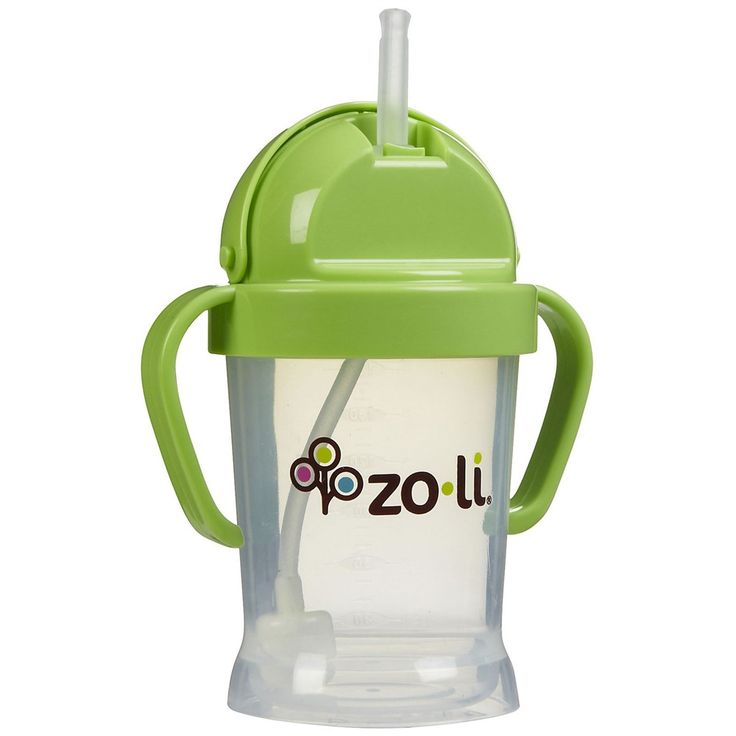 Zoli Baby BOT - Straw Sippy Cup 6 oz, Orange