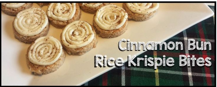Cinnamon Bun Rice Krispie Bites - Powered by @ultimaterecipe