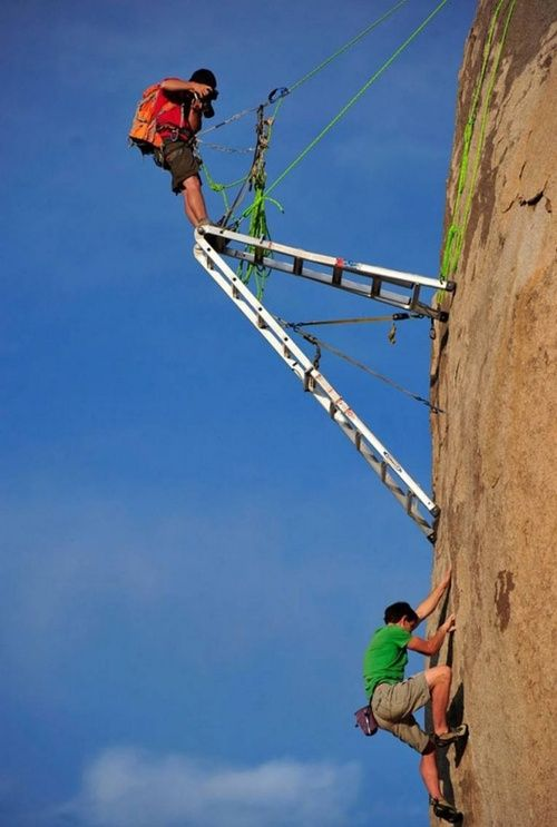 ladder photo climb