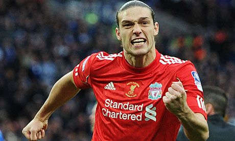 Reports in all the papers today suggest West Ham United have shattered their transfer bid record with a £17 Million move for Liverpool Striker Andy Carroll.    Carroll, 23,  is thought to be deemed as surplus to requirements by new Liverpool boss Brendan Rogers who is keen to recoup as much of the record breaking