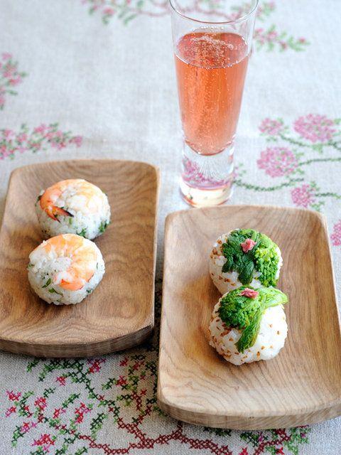 Temari Sushi with Shrimp and Spring Herbs 手まり寿司