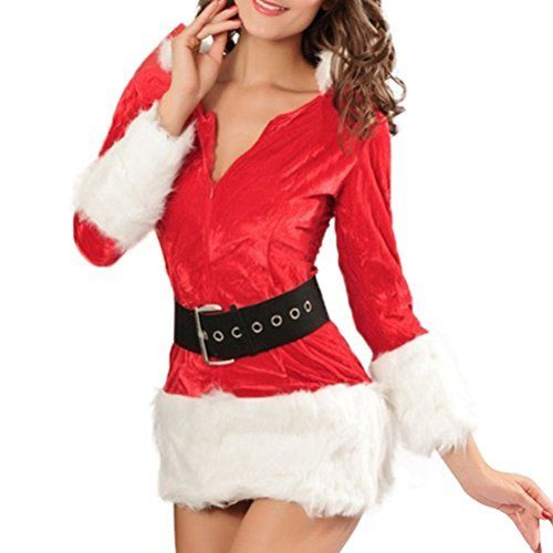 #beachaccessoriesstore Santa Costume Adult Miss Santa Suit Christmas Dress for Child Girls Women: We are currently… #beachaccessoriesstore