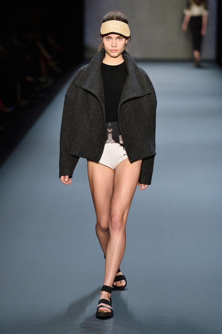 Look 10: Swan Coat with Living Leotard