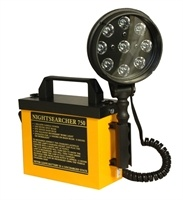 Nightsearcher 750 LED Utility Searchlight. Description:  .1500 lumens  .750 metre beam  .4 light modes: High, low, flashing, strobe  .9 CREE® LEDs  .Detachable head and coiled lead  .Supplied with: Mains charger and shoulder strap. #Torches, #Flashlight, #Torch, #Searchlight - http://www.rapidtoolsdirect.co.uk/category/torches-lamps