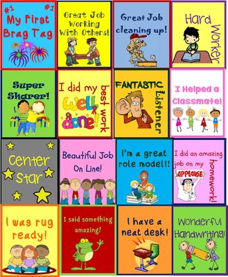 Brag Tags Freebie from TheWisestOwl on TeachersNotebook.com (17 pages)
