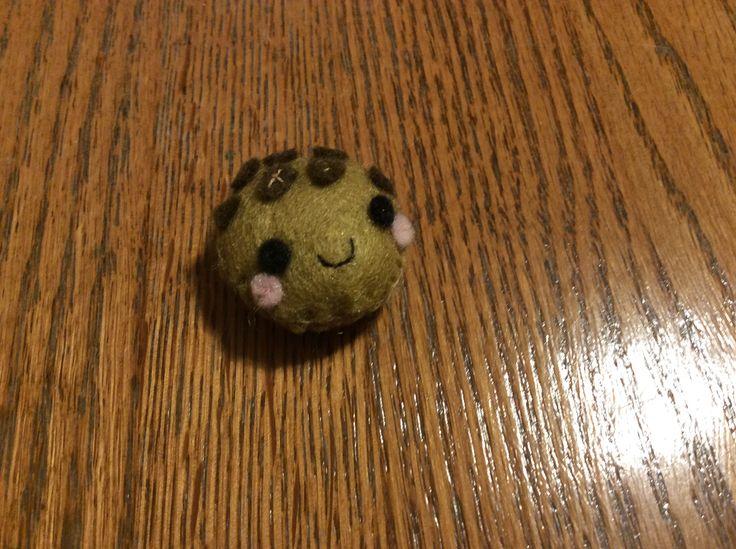 Kawaii Kookie. Here's a sweet treat, here's Kawaii Kookie. A cookie I made from KLUTZ's Sew Mini Treats kit.