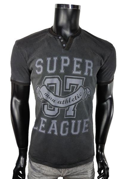 T-shirt męski v-neck - Czarny - T-shirty męskie - Awii, Odzież męska, Ubrania męskie, Dla mężczyzn, Sklep internetowy