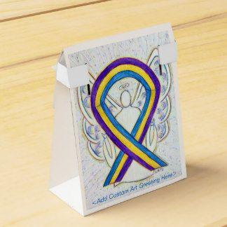 Bladder Cancer Awareness Ribbon Party Favor Boxes