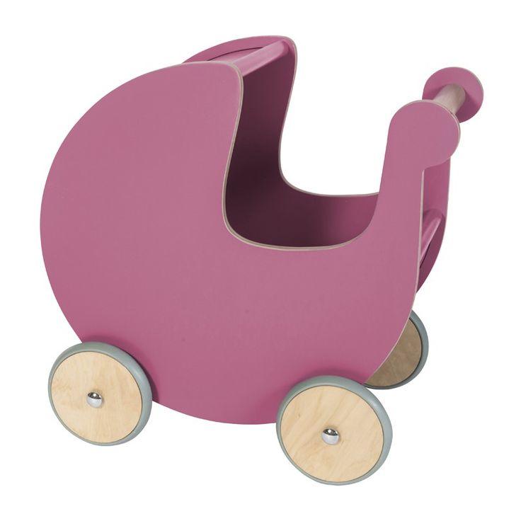 Wunderschöner Lauflernwagen und Puppenwagen aus Holz, rose, von sebra #MomPreneursAdventsbasar