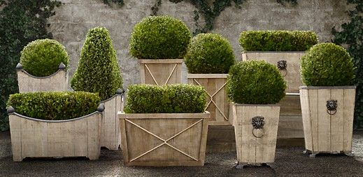 Reclaimed Wood Planters