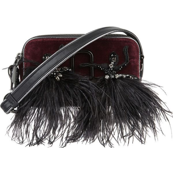 Marc Jacobs Snapshot small bordeaux velvet cross-body bag (720 CAD) ❤ liked on Polyvore featuring bags, handbags, shoulder bags, velvet purse, velvet handbag, marc jacobs handbags, marc jacobs crossbody and zipper handbag