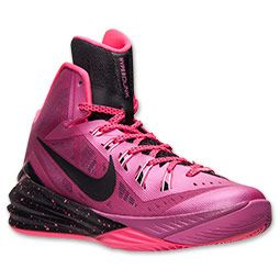 "Men's Nike Hyperdunk ""Breast Cancer Awareness"" 2014 Basketball Shoes  Finish Line   Pink Fire/Metallic Silver/Hyper Pink"