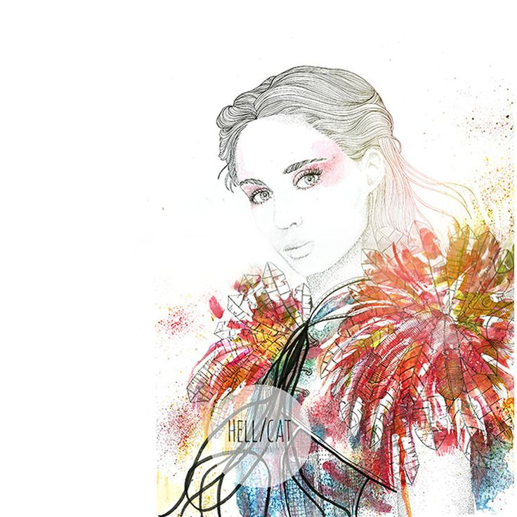 Rooney Mara (Pan Movie). Watercolours and ink :)